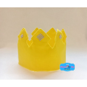 Coroa Em Feltro - Rei - Aniversario - Enfeite - Fantasia