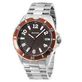 78143ba04df Relógio Magnum Ma34521r Calendario Pulseira Metal