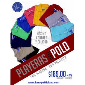 72275e091091a Playera Tipo Polo Publicidad Serigrafia en Mercado Libre México