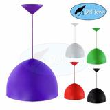 Colgante Campana Plástica Varios Colores Para Lámpara Rosca