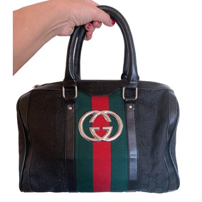 Cartera Baulito Gucci Boston Bag Gg Monograma