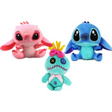 Genial Set De Peluches Stitch Angel Y Trapo Envio Gratis