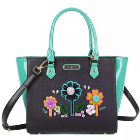 Nicole Lee Cartera Laser Cut Pop Flowers Shopper Bag Black