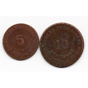 2.- Antiguas Monedas Oaxaca 5 Y 10 Centavos 1915