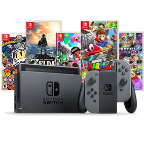 Nintendo Switch 32gb Cinza Ou Neon + 2 Jogos