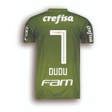 Camisa adidas Palmeiras 18 Dudu 7 Campeão Brasileiro Oficial