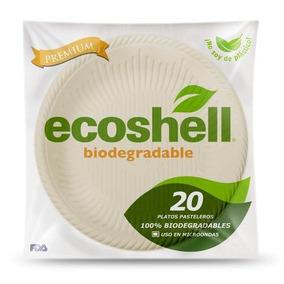 Plato Pastelero Desechable Biodegradable Ecoshell |paq|