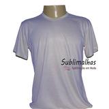 12 Camisas Sublimação Branca E Cores Claras 100% Poliéster f799485da17