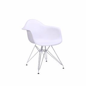Silla Eames Con Brazo Sillas Modernas Metal Kirt Blanca
