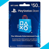 Tarjeta Codigo Psn Playstation Network Ps4 Ps3 $50 $100