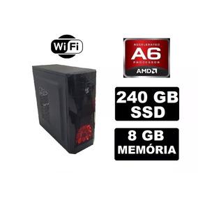 Cpu Gamer Barata Amd A6 7400k 8gb 240gb Radeon 2gb Fonte 350