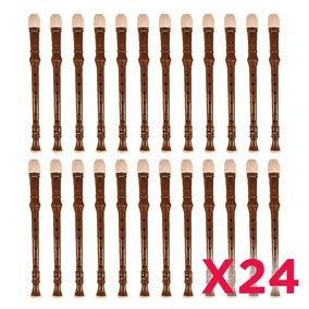 Flauta Dulce Melos Escolar - Kit X 24 Unidades
