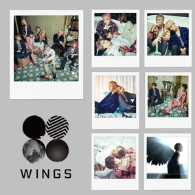 Kit 40 Polaroids Bts Kpop - Wings + Dope