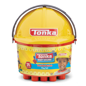 Tonka 3 In 1 Bucket Of Blocks 25 Pc 2 Style Assortment: Fi