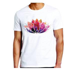 Camiseta Camisa Roupa Unissex Psicodélica Flor Lótus Padma