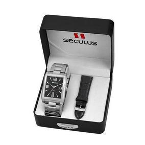 Relógio Seculus Masculino 23628g0svna1 Troca Pulseira