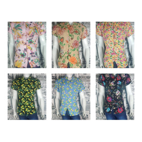 Kit 6 Pç Camisas Viscose Polo Floral -adquira Agora!