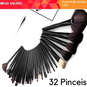 Kit 32 Pincéis Rosa E Preto - Maquiagem no Mercado Livre Brasil 9c4b1af975