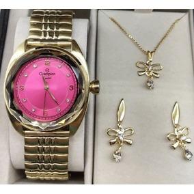 48ca5e720cb Relogio Feminino Champion Rosa Pink - Relógio Champion Feminino no ...