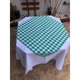 1bc1ace7d5a9b 21 Toalha De Mesa Xadrez 80x80 Oxford Para Bares Restaurante