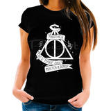 Camiseta Baby Look Harry Potter Reliquias Da Morte