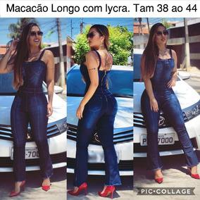 Macacão Longo Jeans Ref389