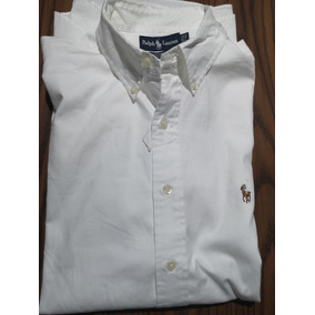 Camisa Polo Ralph Lauren Blanca 17 33 Original (no Brooks) b09a62f826cb3