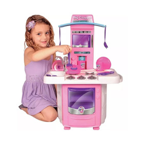 Nova Big Cozinha Big Star Fogão Infantil Partir De 3 Anos