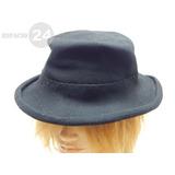 Antiguo Sombrero Paño De Fieltro Lana Irregular Color Negro 0c548bfa2be1
