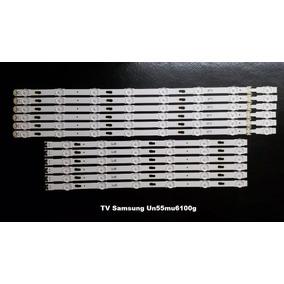 Kit Barras De Led Tv Samsung Un55mu6100g - Conjunto Completo