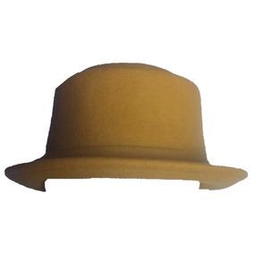 842b13eb2faf7 Sombrero Mujer Dama Coqueto Femenino Mostaza