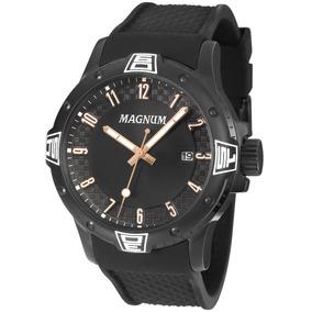 Relógio Magnum Masculino Ma34414d Pulseira De Silicone