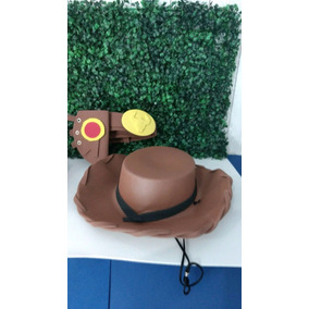 Kit Chapéu+cartucheira Woody+chapéu Jessie Toy Store Cowboy