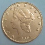 Replica- Copia Una Morocota 20d- No Es De Oro 1895