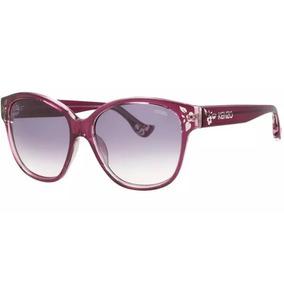 7ff18f8e7896c Óculos De Sol Kenzo   3134 03 Acetato Vermelho Lente Azulada