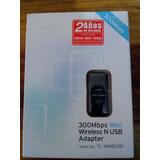 Mini Adaptador Usb Inalambrico 300mbps Tl-wn823n