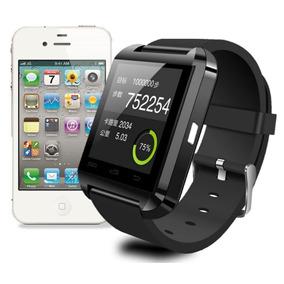 Relógio Celular Inteligente Smartwatch U8 Preto Andoird Ios