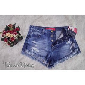Shorts Jeans Revanche / Sem Lycra / Tam 38/ Lançamento