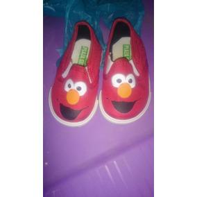 Zapatos De Elmo Para Bebe Miden 13.5 Cm Excelente Estado !!