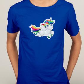 Camisa Unicornio Asa Voo Colorido - P M G Gg - Cores
