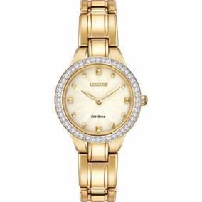 Reloj Citizen Eco-drive Dama Ex1362-54p Silhouette Crystal