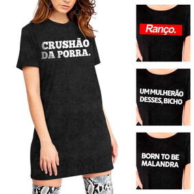 Kit C 20 Camiseta Feminina Vestidinho Longline Atacado Blusa. R  1.138 10d507784571d