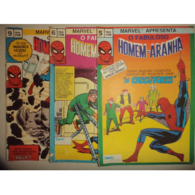 Lote O Fabuloso Homem Aranha 5 6 9 Distri Editora 1983