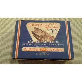 Caja De Anzuelos Mustad X 50 Unidades Antiguos