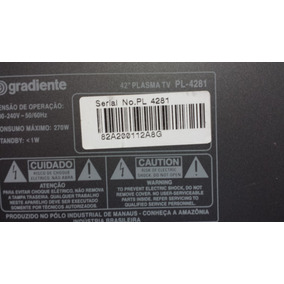 Tv Gradiente Pl 4281 Plasma (peças Consulte)