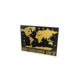 Pôster De Raspar Mapa Mundi Raspadinha 80x60cm Grande