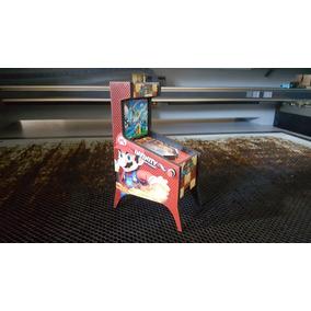 Case Pinball Para Raspberry Pi3 B Ou B+ Em Mdf Mario!