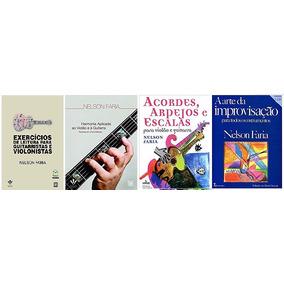 Kit 4 Livros Nelson Faria - Harmonia, Improvisação, Leitura