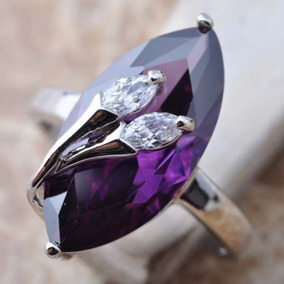 fec6905292a1 Piedras Preciosas Amatista Púrpura Delicado Anillo... (8.5) por eBay