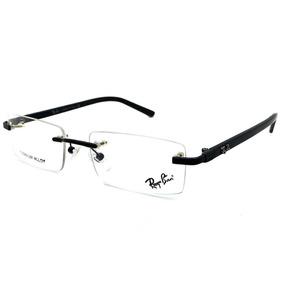 642ed299e7484 Armaçao Ray Ban Juvenil - Óculos Preto no Mercado Livre Brasil